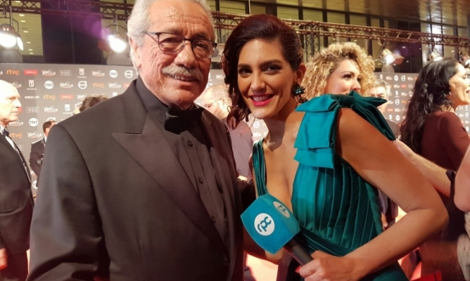 Edward James Olmos, recibió el Platino de honor.